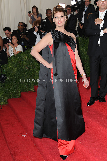 WWW.ACEPIXS.COM<br /> May 4, 2015...New York City<br /> <br /> Linda Evangelista attending the Costume Institute Benefit Gala  celebrating the opening of China: Through the Looking Glass at The Metropolitan Museum of Art on May 4, 2015 in New York City.<br /> <br /> Please byline: Kristin Callahan<br /> ACEPIXS.COM<br /> Tel# 646 769 0430<br /> e-mail: info@acepixs.com<br /> web: http://www.acepixs.com