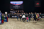Public enjoy the 'Walk the Course' activity as part of the Longines Hong Kong Masters on 14 February 2015, at the Asia World Expo, outskirts Hong Kong, China. Photo by Victor Fraile / Power Sport Images