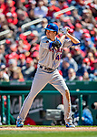 5 April 2018: New York Mets starting pitcher Jacob deGrom at bat against the Washington Nationals during the Nationals' Home Opener at Nationals Park in Washington, DC. The Mets defeated the Nationals 8-2 in the first game of their 3-game series. Mandatory Credit: Ed Wolfstein Photo *** RAW (NEF) Image File Available ***
