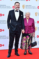 David Walliams and mum Kathleen<br /> at Virgin Media British Academy Television Awards 2019 annual awards ceremony to celebrate the best of British TV, at Royal Festival Hall, London, England on May 12, 2019.<br /> CAP/JOR<br /> &copy;JOR/Capital Pictures