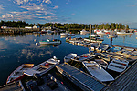 Boats in the harbor, Owls Head, Maine, USA