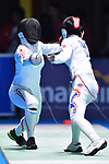 Kanna Oishi (JPN), <br /> AUGUST 21, 2018 - Fencing : Women's Individual Epee at Jakarta Convention Center Cendrawasih during the 2018 Jakarta Palembang Asian Games in Jakarta, Indonesia. <br /> (Photo by MATSUO.K/AFLO SPORT)