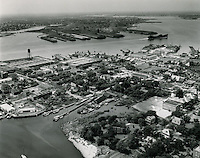 UNDATED..Redevelopment.Atlantic City (R-1)..View looking South .Atlantic City.Portsmouth in background across river...NEG#.NRHA# 332.