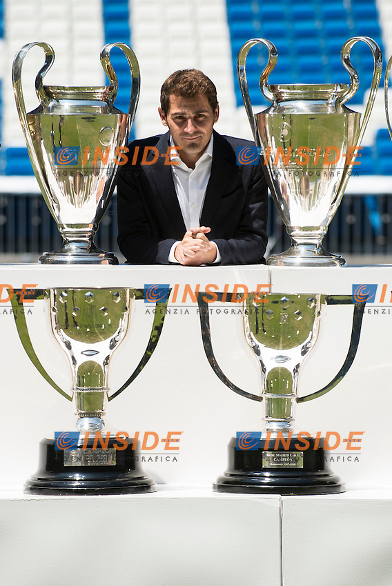 Iker Casillas, attends to old team tribute, Real Madrid and say goodbye to the fans at Santiago Bernabeu Stadium in Madrid. July 13. 2015.<br />  (ALTERPHOTOS/BorjaB.Hojas/Insidefoto)