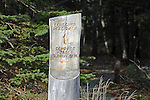 Trail marker, Acadia National Park, Maine, USA