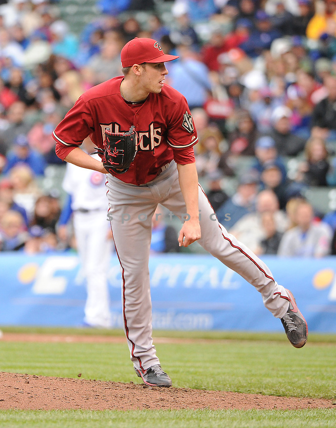 Arizona Diamondbacks Patrick Corbin (46) during a game against the Chicago Cubs on June 2, 2013 at Wrigley Field in Chicago, IL. The Diamondbacks beat the Cubs 4-8.