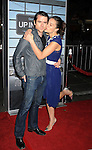 "WESTWOOD, CA. - November 30: America Olivo and husband Christian Campbell arrive at the ""Up In The Air"" Los Angeles Premiere at Mann Village Theatre on November 30, 2009 in Westwood, California."