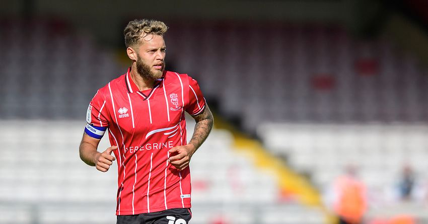 Lincoln City's Jorge Grant<br /> <br /> Photographer Chris Vaughan/CameraSport<br /> <br /> The EFL Sky Bet League One - Saturday 12th September 2020 - Lincoln City v Oxford United - LNER Stadium - Lincoln<br /> <br /> World Copyright © 2020 CameraSport. All rights reserved. 43 Linden Ave. Countesthorpe. Leicester. England. LE8 5PG - Tel: +44 (0) 116 277 4147 - admin@camerasport.com - www.camerasport.com - Lincoln City v Oxford United