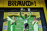 Peter Sagan (SVK) Bora-Hansgrohe retains the points Green Jersey at the end of Stage 14 of the 2019 Tour de France running 117.5km from Tarbes to Tourmalet Bareges, France. 20th July 2019.<br /> Picture: ASO/Pauline Ballet | Cyclefile<br /> All photos usage must carry mandatory copyright credit (© Cyclefile | ASO/Pauline Ballet)