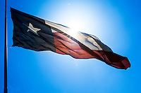 "The Texas Flag Code assigns the following symbolism to the colors of the Texas flag: blue stands for loyalty, white for purity, and red for bravery. The code also states that single (lone) star ""represents ALL of Texas and stands for our unity as one for God, State, and Country."""