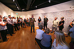Western Nevada College President Chet Burton speaks at a final reception for the Always Lost: A Meditation on War exhibit at WNC in Carson City, Nev., on Thursday, July 28, 2016.<br />