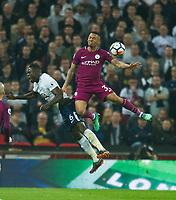Manchester City Gabriel Jesus  and Tottenham's Davinson Sanchez during the Premier League match between Tottenham Hotspur and Manchester City at Wembley Stadium, London, England on 14 April 2018. Photo by Andrew Aleksiejczuk / PRiME Media Images.