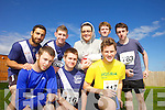 Front row from left Jason Kelly, Neil Dennehy and Fergus Dennehy Back row Sohaib Syed, James O'Connell, and Shane Dennehy pictured at the Rose of Tralee International 10k Race in Tralee on Sunday.