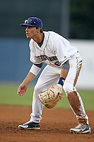 June 24, 2009:  First Baseman Jason Smith of the Mahoning Valley Scrappers during a game at Eastwood Field in Niles, OH.  The Scrappers are the NY-Penn League Short-Season Single-A affiliate of the Cleveland Indians.  Photo by:  Mike Janes/Four Seam Images