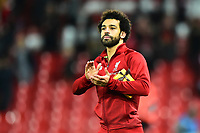 Liverpool's Mohamed Salah applauds the fans at the end of the match <br /> <br /> Photographer Richard Martin-Roberts/CameraSport<br /> <br /> UEFA Champions League Group C - Liverpool v Crvena Zvezda - Wednesday 24th October 2018 - Anfield - Liverpool<br />  <br /> World Copyright © 2018 CameraSport. All rights reserved. 43 Linden Ave. Countesthorpe. Leicester. England. LE8 5PG - Tel: +44 (0) 116 277 4147 - admin@camerasport.com - www.camerasport.com