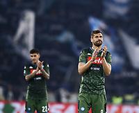 11th January 2020; Stadio Olympico, Rome, Italy; Serie A Football, Lazio versus Napoli; Fernando Llorente  of Napoli applauds the fans - Editorial Use