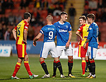 Lee Wallace gives Kenny Miller the Captain's armband