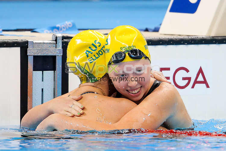 Picture by Rogan Thomson/SWpix.com - 16/09/2016 - 2016 Rio Paralympic Games - Swimming - Olympic Aquatics Centre, Rio de Janeiro, Brazil - Maddison Elliott of Australia wins Gold with a new World Record time and Lekeisha Patterson of Australia wins Silver in the Women's 50m Freestyle S8 Final.