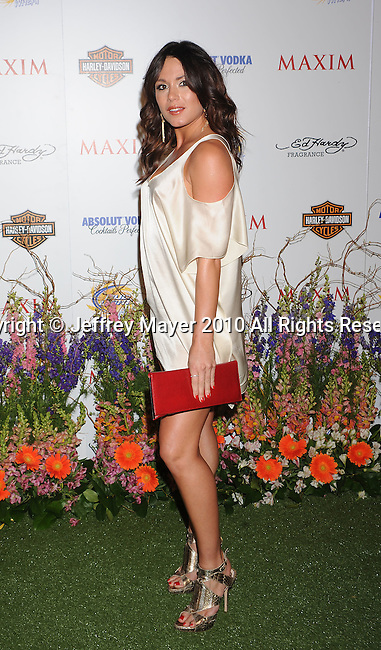 LOS ANGELES, CA. - May 19: Michelle Leah arrives at the 11th Annual MAXIM HOT 100 Party at Paramount Studios on May 19, 2010 in Los Angeles, California.