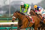 FUNABASHI,JAPAN-MAR 8: Satono Flag,ridden by Yutaka Take,wins the Deep Impact Kinen at Nakayama Racecourse on March 8,2020 in Funabashi,Chiba,Japan. Kaz Ishida/Eclipse Sportswire/CSM