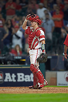 Kole McKinnon (11) of the Louisiana Ragin' Cajuns in action against the Vanderbilt Commodores in game five of the 2018 Shriners Hospitals for Children College Classic at Minute Maid Park on March 3, 2018 in Houston, Texas.  The Ragin' Cajuns defeated the Commodores 3-0.  (Brian Westerholt/Four Seam Images)