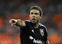 Washington D.C. - May 17, 2014:  Nick DeLeon (14) of D.C. United. D.C. United defeated  the Houston Dynamo 2-0 during a Major League Soccer match for the 2014 season at RFK Stadium.
