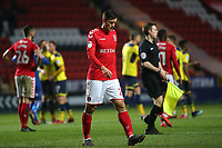 Michal Zyro of Charlton heads to the dressing room at the final whistle during Charlton Athletic vs Oxford United, Sky Bet EFL League 1 Football at The Valley on 3rd February 2018