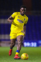 AFC Wimbledon's Adedeji Oshilaja during the Sky Bet League 1 match between Oldham Athletic and AFC Wimbledon at Boundary Park, Oldham, England on 21 November 2017. Photo by Juel Miah/PRiME Media Images