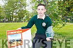 Jack Nagle from Castlemaine who won the best project at Kerry SciFest 2017 for his farm safety device Tractor Safe Lock.