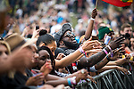 © Joel Goodman - 07973 332324 . . 12/06/2016 . Manchester , UK . Crowds for Busta Rhymes at the Parklife music festival at Heaton Park in Manchester . Photo credit : Joel Goodman