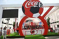 Stand von Coca-Cola - 14.06.2018: Russland vs. Saudi Arabien, Eröffnungsspiel der WM2018, Luzhniki Stadium Moskau