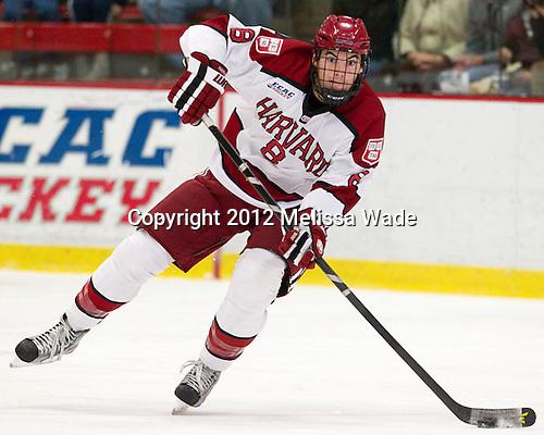 Patrick McNally (Harvard - 8) - The Harvard University Crimson defeated the visiting Rensselaer Polytechnic Institute Engineers 4-0 (EN) on Saturday, November 10, 2012, at Bright Hockey Center in Boston, Massachusetts.