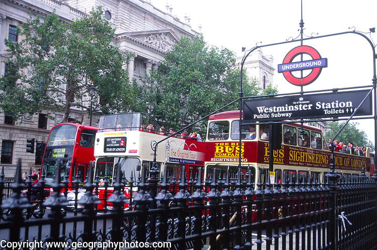 ATBK65 Public transport Westminster London England