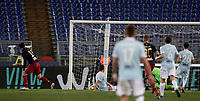 Calcio, Serie A: Lazio - Genoa, Roma, Stadio Olimpico, 5 Febbraio 2018. <br /> Genoa's Goran Pandev (l) celebrates after scoring during the Italian Serie A football match between Lazio and Genoa at Rome's Stadio Olimpico, February 5, 2018.<br /> UPDATE IMAGES PRESS/Isabella Bonotto