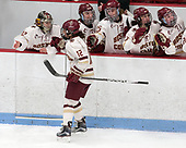 Kenzie Kent (BC - 12) -  The Boston College Eagles defeated the University of Vermont Catamounts 4-3 in double overtime in their Hockey East semi-final on Saturday, March 4, 2017, at Walter Brown Arena in Boston, Massachusetts.