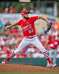 24 February 2019: St. Louis Cardinals top prospect pitcher Daniel Ponce de Leon on the mound during a Spring Training game against the Washington Nationals at Roger Dean Stadium in Jupiter, Florida. The Cardinals fell to the Nationals 12-2 in Grapefruit League play. Mandatory Credit: Ed Wolfstein Photo *** RAW (NEF) Image File Available ***
