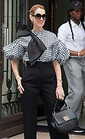 July 6, 2017 - PARIS, FRANCE : Singer Céline Dion leaves the Royal Monceau Hotel on Avenue Hoche