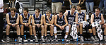 SIOUX FALLS, SD: MARCH 22: Players on the Colorado Mines bench react as Bellarmine increases its lead late in the game during the Men's Division II Basketball Championship Tournament on March 22, 2017 at the Sanford Pentagon in Sioux Falls, SD. (Photo by Dave Eggen/Inertia)