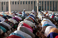 Bangladeshi Muslims offer prayers marking the festival of Eid al-Adha at the Baitul Mukarram National mosque in Dhaka, Bangladesh. Oct. 6, 2014