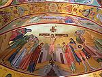 Rakovica monastery, Serbia: golden icons of the Crucifixion of Christ by Iconographer Rade Sarić