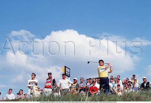 SHIGEKI MARUYAMA (JPN) on the 13th tee. 126th Open Championship, Royal Troon 970720 Photo:Glyn Kirk/Action Plus...1997.golf.golfer golfers