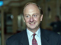 Richard Needham, MP, Conservative Party, UK,  junior minister, N Ireland Office, annual conference, 6th Earl of Kilmorey, October 1983, 199310001774<br /><br />Copyright Image from Victor Patterson, 54 Dorchester Park, Belfast, UK, BT9 6RJ<br /><br />t: +44 28 9066 1296 (from Rep of Ireland 048 9066 1296)<br />m: +44 7802 353836<br /><br />victorpattersonbelfast@gmail.com<br />www.victorpatterson.com<br /><br />Please see my Terms and Conditions of Use at https://www.victorpatterson.com/page2<br />It is IMPORTANT that you familiarise yourself with them.<br /><br />Images used on the Internet incur an additional cost and must be visibly watermarked i.e. © Victor Patterson within the body of the image and copyright metadata must not be deleted. Images used on the Internet have a size restriction of 4kbs and are chargeable at rates available at victorpatterson.com.<br /><br />This image is only available for the use of the download recipient i.e. television station, newspaper, magazine, book publisher, etc, and must not be passed on to any third party. It is also downloaded on condition that each and every usage is notified within 7 days to victorpatterson@me.com<br /><br />The right of Victor Patterson to be identified as the author is asserted in accordance with The Copyright Designs And Patents Act (1988). All moral rights are asserted.