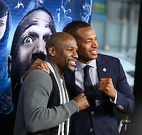 "LOS ANGELES, CA, USA - APRIL 16: Marlon Wayans, Floyd Mayweather Jr. at the Los Angeles Premiere Of Open Road Films' ""A Haunted House 2"" held at Regal Cinemas L.A. Live on April 16, 2014 in Los Angeles, California, United States. (Photo by Xavier Collin/Celebrity Monitor)"