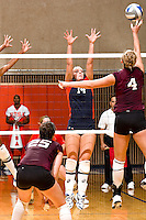 SAN ANTONIO, TX - SEPTEMBER 8, 2007: The Texas A&M University Aggies vs. The University of Texas at San Antonio Roadrunners Volleyball at the UTSA Convocation Center. (Photo by Jeff Huehn)