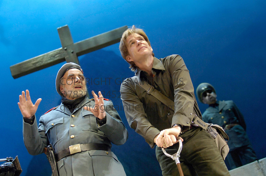 Resurrection Blues by Arthur Miller directed by Robert Altman. With Maximilian Schell,Matthew Modine. Opens at the Old Vic Theatre on 2/3/06. CREDIT Geraint Lewis