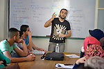 Khaled Bastoni teaches in a school in Saida, Lebanon, run by the Department of Service for Palestinian Refugees of the Middle East Council of Churches. The school provides education for Syrian refugee youth. Lebanon hosts some 1.5 million refugees from Syria. This school is supported by the ACT Alliance.