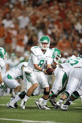DENTON, TX - AUGUST 30 :  - North Texas Mean Green Football vs University of Texas at the Darrell K Royal Texas Memorial Stadium in Denton on August 30, 2014 in Denton, Texas.  (Photo by Rick Yeatts)