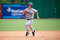Lakeland Flying Tigers left fielder Dustin Frailey (7) running the bases during the first game of a doubleheader against the Clearwater Threshers on June 14, 2017 at Spectrum Field in Clearwater, Florida.  Lakeland defeated Clearwater 5-1.  (Mike Janes/Four Seam Images)