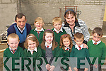 Children from Firies NS inspects the progress of new classroom extension in the school on Wednesday front row l-r: Patrick Daly, Olivia Darlington, Mairead O'Mahony, Ciara Kearney, Luke Foley, Cian Sheehan. Back row: Kieran O'Mahony Board of Management, Caitlin McEntaggart, Tomas Clifford and Eileen Brosnan Principal