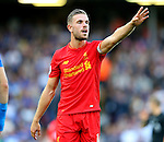 Jordan Henderson of Liverpool during the Premier League match at Anfield Stadium, Liverpool. Picture date: September 10th, 2016. Pic Simon Bellis/Sportimage